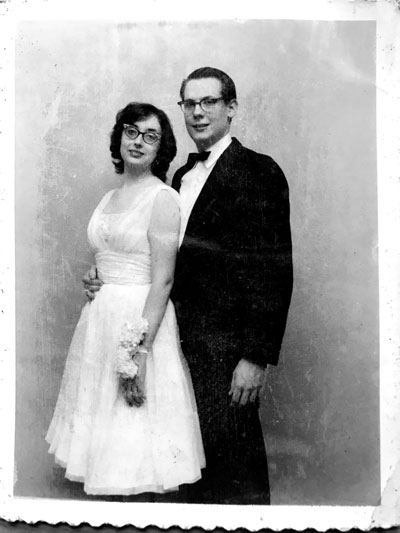 My parents' wedding picture, taken June 1, 1961.